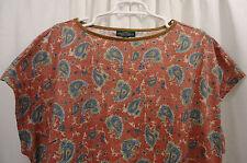Women's Lauren Raph Lauren Paisley  Shirt  1X