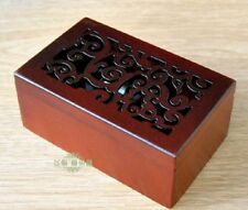 Rectangle Wood Carving Jewelry Wind Up Music Box :Hedwig's Theme Soundtrack