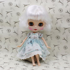 Blythe Nude Doll from Factory Matte Face Jointed Body White Short Hair