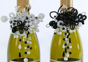 Katherine's Collection Day of the Dead Halloween Wine Bottle Jewelry Set of 2