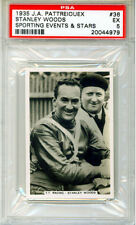 1935 PATTREIOUEX Sporting & Events Stars #36 STANLEY WOODS PSA 5 Racing CHAMP