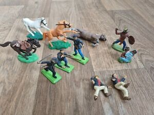 Vintage Britains Deetail American Civil War ACW toy Soldiers and Indians