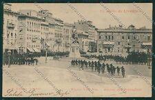 Livorno Città Bersaglieri Militari cartolina QQ3622