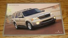 Original 2004 Lincoln Navigator Sales Brochure Folder 04