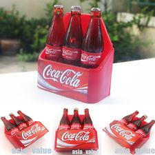 1 x Coca Cola 3D Miniature Magnets 3 Bottles Souvenir COKE Collectibles Thailand