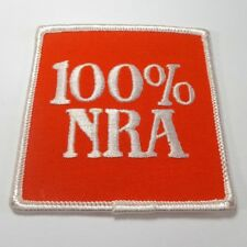 "Orange White 3"" Square 100% Nra National Rifle Assoc. Patch"