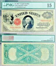 1917 Series $1.00 Large Red Seal Note PMG #1180934-001 F 15 Choice Fine