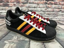 ADIDAS Superstar I NBA Miami Heat Men's Shoes Black / Red / Yellow US 10.5
