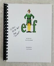 "Bob Newhart ""Papa Elf"" Autograph Signed ""ELF"" Full Movie Script 2003 Film"