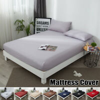 Mattress Protector Cover Elastic Waterproof Cotton Terry Bed Full Queen King