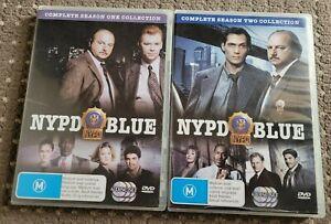 NYPD Blue Seasons 1 + 2 DVD Region 4 PAL
