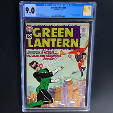 GREEN LANTERN #14 (DC 1962) 💥 CGC 9.0 WHITE PGs 💥 ONLY 8 HIGHER! 1ST APP SONAR