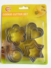 12 x CHRISTMAS xmas Cookie metal Biscuit cutters  STAR CIRCLE PETAL STAR