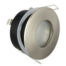 10 x Satin GU10 Bathroom Ceiling Light Downlight Spotlight Fitting IP44 Rated
