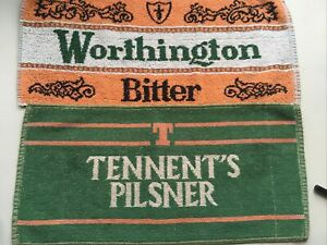 Two Retro Beer Towels - Worthington And Tennent's