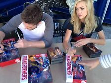 RARE TRANSFORMER OPTIMUS PRIME SIGNED AUTO NICOLA PELTZ AND JACK REYNOR JSA