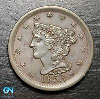 1853 Braided Hair Half Cent --  MAKE US AN OFFER! #B9213