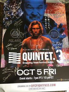 Quintet 3 signed poster  (Sakuraba, Faber, Barnett, Mir) Polaris 10th Planet UFC