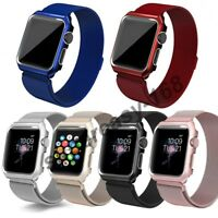 Apple Watch Milanese Stainless Steel Watch Band Strap+Cover Case Series 4