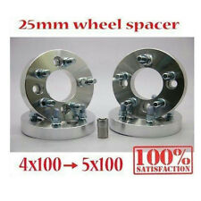 4pcs 25mm ( 1inch ) Wheel Spacer Adapter 12 x 1.25 Studs 4x100 Convert To 5x100