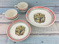4 VTG Made in Italy For Himark Buona Italia San Remo Pasta Serving Bowls Mugs