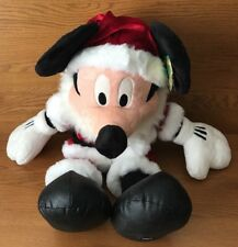 Disney Store Exclusive Santa Claus Mickey Mouse Holiday Plush Small 24''