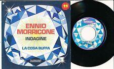 """ENNIO MORRICONE 45 TOURS 7"""" BELGIUM HORS COMMERCE INDAGINE+"""
