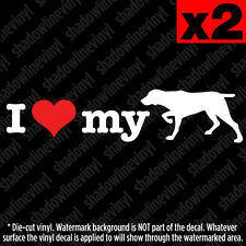 I Love My German Shorthaired Pointer Vinyl Decal Sticker Pet Hunting Dog Breed