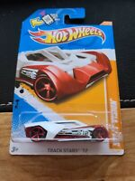 2012 Hot Wheels #76 Track Stars 11//15 SPLIT VISION White w//Red OH5 Spoke Wheel