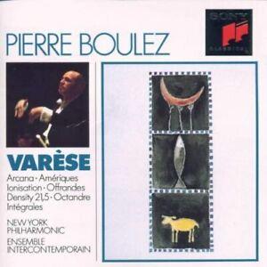 Varese: Arcana / Ameriques / Ionisation etc NYPO/Pierre Boul