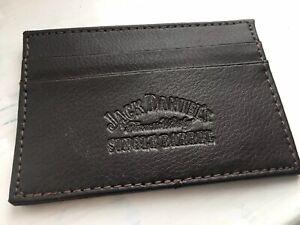 Collectors Jack Daniels Brown Leather Card Holder Wallet - 2 Card Slots