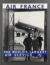 AIR FRANCE GOLDEN CLIPPER WIBAULT PENHOET 282.T.12 VINTAGE AIRLINE BROCHURE AF