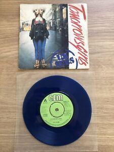 "UK SUBS ~ Tomorrows Girls ~ 1979 UK limited edition 3-trk BLUE VINYL 7"" single"