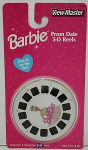 View-Master Barbie Prom Date 3-D 3 Reels sealed on card 1998 Fisher-price 3542