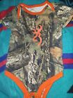 Real Tree Infant One Piece Browning 3 Months Camouflage