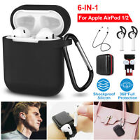 Case Silicone Protect Cover Skin Earphone Charger Cases for Apple AirPod 1/2