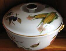 Casserole Dish Gold Royal Worcester Porcelain & China
