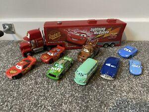 Job Lot Of Disney Pixar Cars Diecast Vehicles Metal & Plastic Mater Lightning