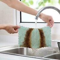 5X Super Absorbent Mikrofaser Küche Spültuch Haushalt Saubere Handtuch S6T7