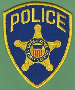 US SECRET SERVICE UNIFORM DIVISION POLICE SHOULDER PATCH BLUE