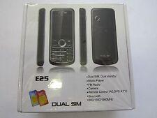 DUAL SIM BLACK UNLOCKED MOBILE PHONE E25 - CAMERA, VIDEO, MP3, BLUETOOTH, RADIO