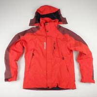 LAFUMA Ski Jacket Size S Red Mens Snowboarding Hood Waterproof Coat Fleece