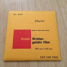 Kodak Filter No. 81EF 100x100mm - Wratten - Gelatine - Gelatin 4x4