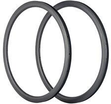 Carbon Fiber Rim 700C 25mm Tubeless Carbon Road/Track/BMX Bike Rims 38mm Depth