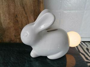 Schöne Hasen Lampe Tischlampe Porzellan weiß