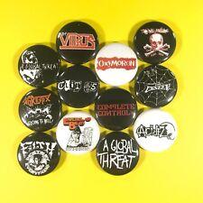 """Street Punk 1"""" Button Pin Set Virus Casualties A Global Threat The Unseen"""