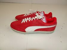 Vintage Puma Red Suede Leather Athletic Shoes Tennis Racer Men 10