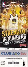 2015 GOLDEN STATE WARRIORS VS CLEVELAND CAVALIERS GAME #2 TICKET STUB NBA FINALS