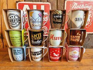 Tasse SPRUCH 250 ml Danke Porzellan Becher Geschirr Kaffee Tee Küche