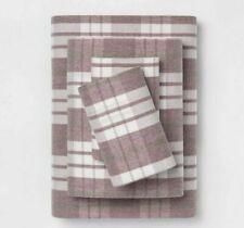 Threshold Plaid Flannel Sheet Set Twin Size Purple